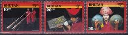 Bhutan 1990 Religion Kunst Arts Kultur Culture Musikinstrumente Musik Music Dungchen Dungkar Roim, Aus Mi. 1339-6 ** - Bhutan