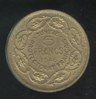 5 Francs Tunisie 1946 - Tunisia