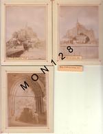 NORMANDIE - LE MONT SAINT MICHEL  -5 PHOTOS DE 1899 NON COLLEES - 9x12 Cms - Photos