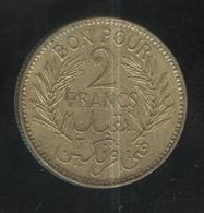 2 Francs Tunisie 1945 - Tunisie
