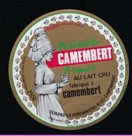 étiquette Fromage  Camembert Normandie Fabriqué Dans L'Orne 61 à Camembert  Durand La Héronniere - Cheese