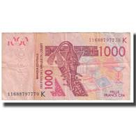 Billet, West African States, 1000 Francs, 2003, KM:115Aa, TB - Estados De Africa Occidental