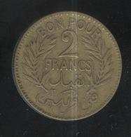 2 Francs Tunisie 1926 - Tunisia