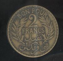 2 Francs Tunisie 1924 - Tunisia