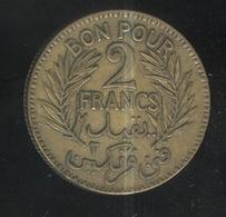 2 Francs Tunisie 1921 - Tunisia