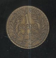 1 Franc Tunisie 1921 - Tunisia