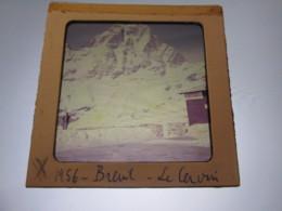 VINTAGE - Photographies Plaque Verre Lanterne Magique [ITALIE BREUIL CERVINIA 1956 - 23 Plaques Couleurs] - Diapositiva Su Vetro