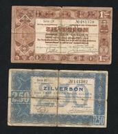 // NEDERLAND  2 ZILVERBONNEN 1 En 2 1/2 GULDEN 1 OCTOBER 1938 - [2] 1815-… : Regno Dei Paesi Bassi
