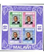 Ref. 227327 * MNH * - MALAWI. 1976. 10th ANNIVERSARY OF THE REPUBLIC . 10 ANIVERSARIO DE LA REPUBLICA - Famous People
