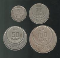 Lot 5 , 20 , 50 , 100 Francs Tunisie 1950 Et 1954 - Tunisia