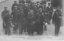LA ROCHELLE - Départ De Duez + Liquidateur Des Congrégations Pour Le Bagne De L'ile De Ré - Ile De Ré