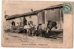 ENVIRONS DE CONTREXEVILLE ATTELAGE LORRAIN ANIMEE - Vittel Contrexeville
