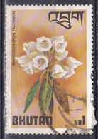 Bhutan 1976 Pflanzen Plants Flora Blumen Blüten Flowers Rhododendron Falconeri, Mi. 643 Gest. - Bhutan