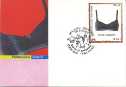 ITALIA - FDC MAXIMUM CARD 2002 - DESIGN ITALIANO - MODA - DOLCE E GABBANA - ANNULLO SPECIALE - Cartoline Maximum