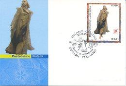 ITALIA - FDC MAXIMUM CARD 2002 - DESIGN ITALIANO - MODA - LAURA BIAGIOTTI - ANNULLO SPECIALE - Cartoline Maximum