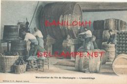 51 // MANUTENTION DU VIN DE CHAMPAGNE  L'assemblage Edit T.D. / Colorisée - France