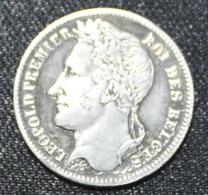 BELGIE LEOPOLD I 1/4 FRANC 1843    TOP KWALITEIT  4 SCANS - 1831-1865: Leopold I