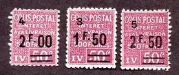 Colis Postal N°74,75,76 N* TB Cote 32 Euros !!! - Parcel Post