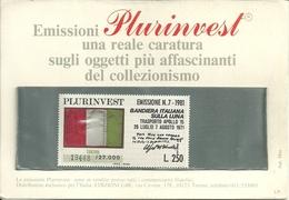 """Emissioni Plurinvest, """"Bandiera Italiana Sulla Luna Lire 250, 1981"""", Tiratura 19448/27000 - 6. 1946-.. Repubblica"""