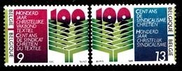 BELGIQUE 1986 Mi.nr.:2290-2291 Gewerkschaftszentrale Für...  Neuf Sans Charniere / Mnh / Postfris - België