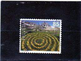 2019 Svizzera - Land Art - Cerchi Di Margheritine Gialle - Switzerland