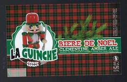 Etiquette Biere La Guinche De Noël 6,8% 33-cl   Brasserie  La Guinche à Chelles 77 - Bière