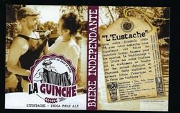 Etiquette Biere Indépendante La Guinche L'Eustache 7,2% 33-cl   Brasserie  La Guinche à Chelles 77 - Bière