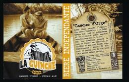 Etiquette Biere Indépendante La Guinchecasque D'orge  5,9% 33-cl   Brasserie  La Guinche à Chelles 77 - Bière