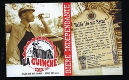 Etiquette Biere Indépendante La Guinche Belle Ile Sur Marne   5,5% 33-cl   Brasserie  La Guinche à Chelles 77 - Bière