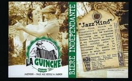 Etiquette Biere Indépendante La Guinche Jazz Mind   6,7% 33-cl   Brasserie  La Guinche à Chelles 77 - Bière