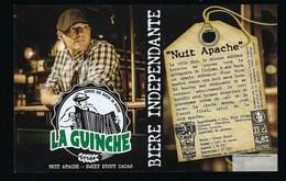 Etiquette Biere Indépendante La Guinche Nuit Apache Stout    4,8% 33-cl   Brasserie  La Guinche à Chelles 77 - Bière