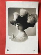 1910 - CHAPEAU PLUMES D'AUTRUCHE - GROTE HOED MET STRUIVOGEL VEREN - Mode
