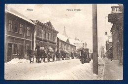 Lettonie. Mitau ( Jelgava). Convoi  Rue Du Palais. Feldpost Der 41. Infanterie Division. Inf. Regiment Nr 148. Mars 1916 - Latvia
