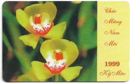 Vietnam - Uniphonekad - Lunar New Year 1 - Orchid #1 - 5MVSB - 20.000ex, Used - Vietnam