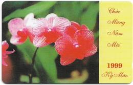 Vietnam - Uniphonekad - Lunar New Year 2 - Orchid #2 - 5MVSC - 20.000ex, Used - Vietnam