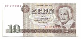 East Germany DDR 10 Mark 1971 AUNC - [ 6] 1949-1990 : RDA - Rep. Dem. Tedesca