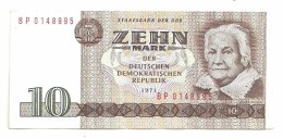 East Germany DDR 10 Mark 1971 AUNC - [ 6] 1949-1990 : GDR - German Dem. Rep.