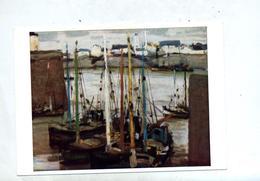 Carte Tableau Baboulene Honfleur  Cachet Saint Louis A Sur  Carre Croix Rouge - Pintura & Cuadros