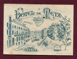 "NANCY  (54) : "" HÔTEL DE METZ "" - Cartes De Visite"