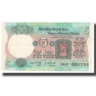 Billet, Inde, 5 Rupees, KM:80b, TTB - India