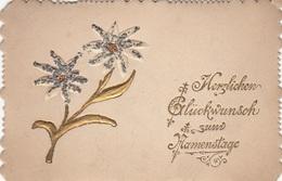 GLÜCKWUNSCHKÄRTCHEN Mit Goldprägung Um 1900 - Feiern & Feste
