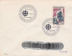 CL926 Cachet Comm. GF/YvT 1461 Anniversaire Philatélique  POSTA 1925 16-17/10/1965 68 Mulhouse - Marcophilie (Lettres)