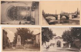 4 CPA:BOLLÈNE (84) FONTAINE ANCIENNE,PLACE ET PORTE DU PONTET,INTÉRIEUR ÉGLISE PAROISSIALE,PONT SUR LE LEZ - Bollene