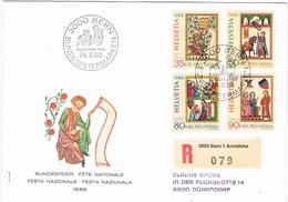 32688. Carta Certificada BERN (Syuisse) 1988. Pro PATRIA, Fète Nationale. Romanic Images - Suisse