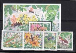 MOLDAVIE - N° 201/4  + Bloc N°16  **  (1997) Insectes - Moldavie