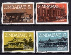 ZIMBABWE - 1990 POST OFFICE SAVINGS BANK ANNIVERSARY SET (4V) FINE MNH ** SG 597-600 - Zimbabwe (1980-...)