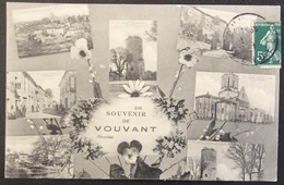 CPA39 Vouvant Vendée Souvenir De Vouvant Carte 2382 Semeuse 5c - Fontenay Le Comte