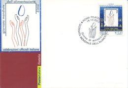 ITALIA - FDC MAXIMUM CARD 2002 - GIORNATA MONDIALE ALIMENTAZIONE - ANNULLO SPECIALE - Cartoline Maximum