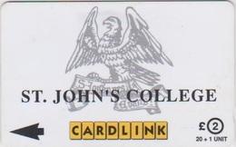 #09 - UNITED KINGDOM-08 - CARDLINK - ST. JOHN'S COLLEGE - 5CLKA - Ver. Königreich