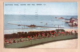 Uk017 Isle Of JERSEY Bathing Pool HAVRE Des PAS Piscine Eau De Mer CI 03.03.1957 - Litho Color PREMIER 1522 Post-Card - Jersey